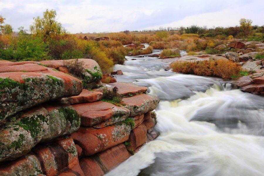 Шолохівський каскадний водоспад, фото